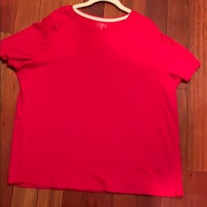 Red t shirt Talbots 2X never worn